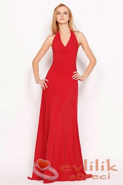En Önemli Gününüz İçin İyi Bir Tercih Kırmızı Renkli Abiye Modelleri