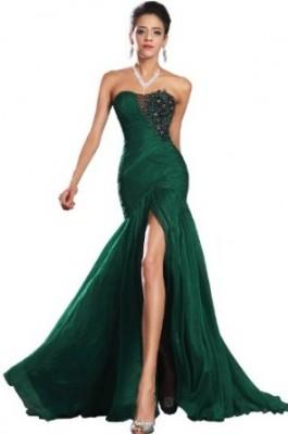 En Şık Yeşil Renkli Nişan Abiye Modelleri
