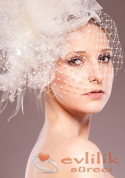 En Güzel Kafes Duvak Şapka Modelleri