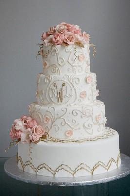 Muhteşem Süslemeli Düğün PAstası