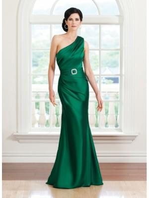 Tek Kollu Çok Zarif Yeşil Renkli Abiye Modeli
