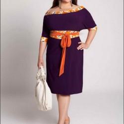Çok zarif kilolular için elbise modelleri