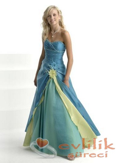 Rengarenk abiye elbise modelleri