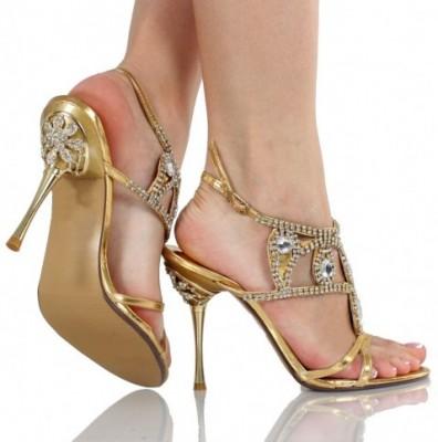 Taş süslemeli abiye ayakkabıları