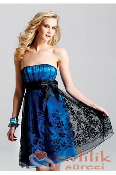Çok şık çiçek desenli söz elbise modeli