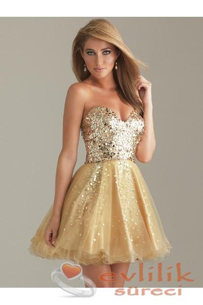 Kısa Boylular İçin Çok Zarif Söz Elbise Modelleri