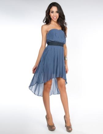 Önü kısa arkası uzun abiye elbise modeli 2015