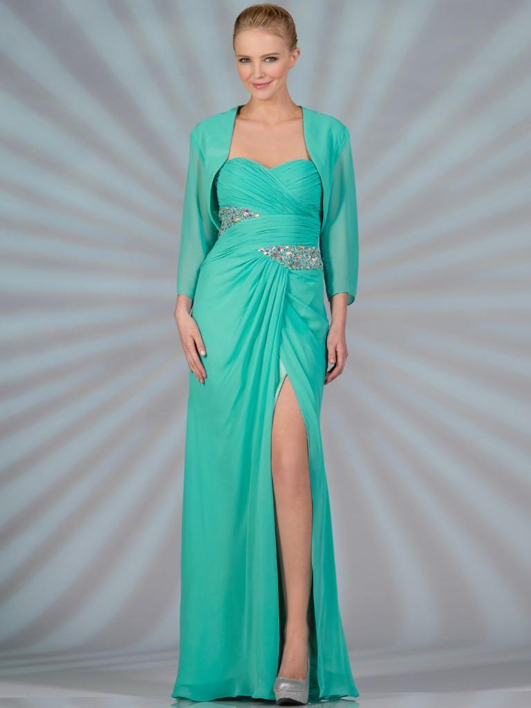 En Güzel Bolerolu Elbise Modeli