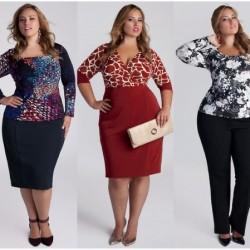 Kilolu bayanlar için birbirinden güzel söz elbiseleri