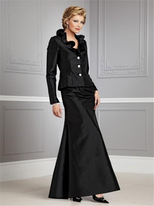 İki Parçalı Çok Zarif Gelin Annesi Elbise Modelleri