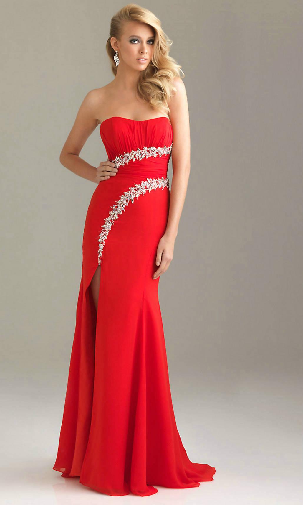 Красное Длинное Вечернее Платье Купить
