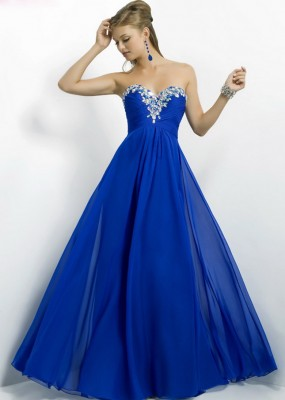 En Güzel Mavi Nişan Elbise Modelleri