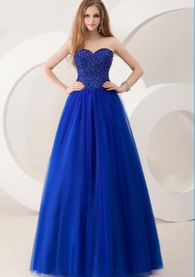 Taş Süslemeli Mavi Nişan Elbise Modelleri