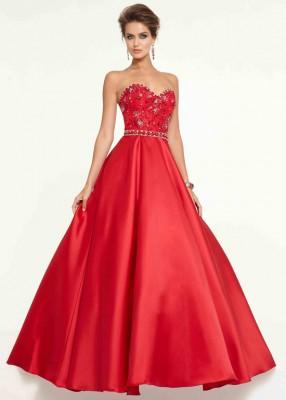 Yeni Sezon Kırmızı Renkli Nişanlık Elbise Modelleri