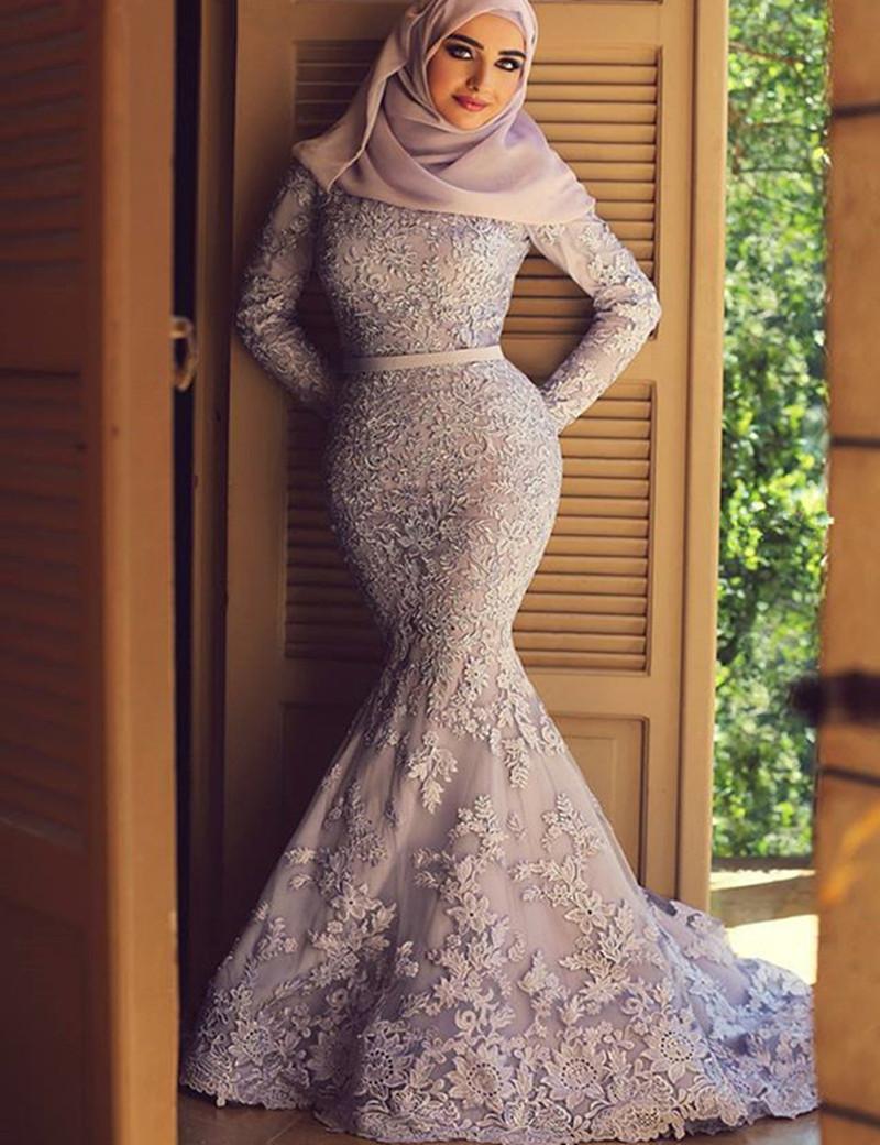Balık Etek Tesettür Nikah Elbise Modelleri