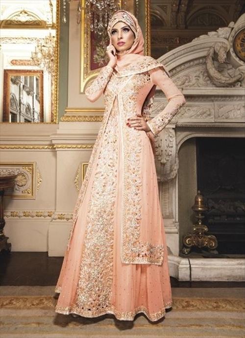 En Zarif Kapalı Nikah Elbise Modelleri