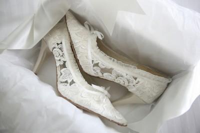 2016 Dantelli Gelin Ayakkabıları