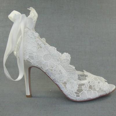 Dantelli Gelin Ayakkabı Modeli