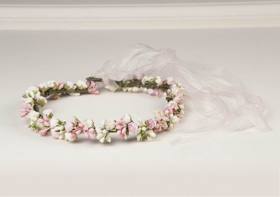 En Güzel Çiçek Süslemeli Gelin Taç Modelleri