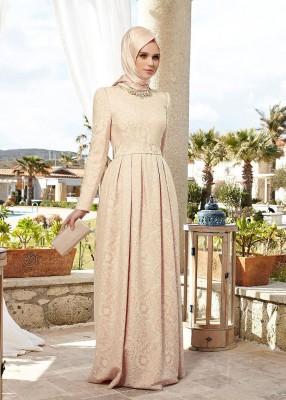 En Zarif Kapalı Tesettür Söz Elbise Modelleri