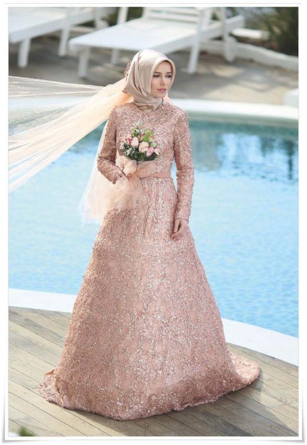 2016 Tesettür Nişan Elbise Modelleri