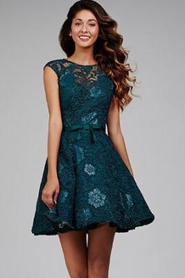 Güpür ve Kemer Detaylı Kısa Nişan Elbise Modelleri 2016