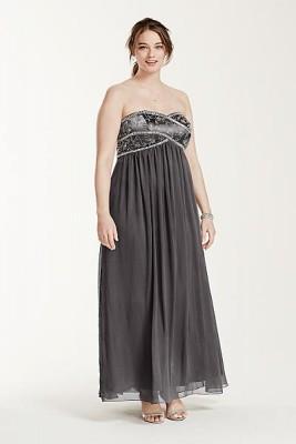 Kilolu Bayanlar İçin Uzun Nişan Elbise Modelleri 2016