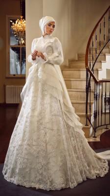 En Güzel Fransız Dantelli Gelinlik Modelleri 2016