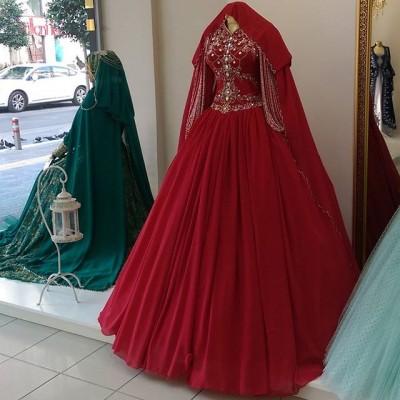 En Güzel Kapalı Kırmızı Nişanlık Modelleri