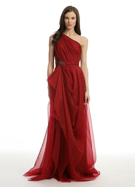 Kırmızı Renkli Çok Şık Vakko Nişanlık Modelleri 2016