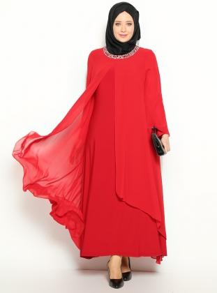 Yeni Sezon Taş İşlemeli Büyük Beden Nişan Elbiseleri