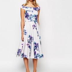 Çiçek Detaylı Nikah Şahidi Elbisesi