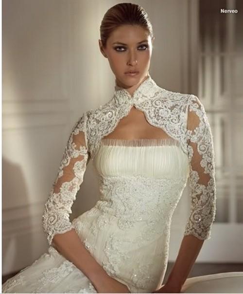 En Güzel ve En Yeni Gelinlik üzeri Bolero Modeli