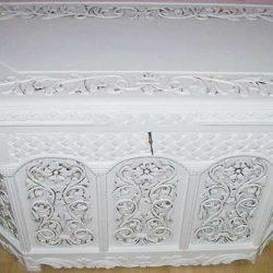 Beyaz Renkli Çok Zarif Çeyiz Sandığı Modeli