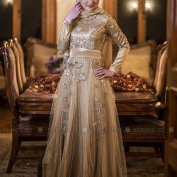 En Güzel Tesettür Nişan Elbise Modelleri 2017