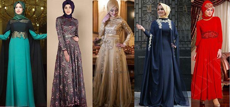 Sözlenecek Genç Kızlar İçin Tesettür Elbise Modelleri 2017