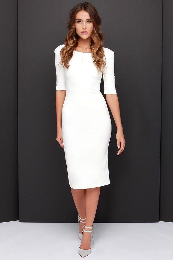 Gelinlik Yerine Tercih Edilebilecek Sade Beyaz Elbiseler