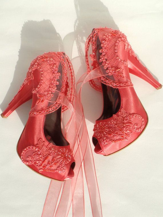 Renkli Dantelli Gelin Ayakkabısı Modelleri