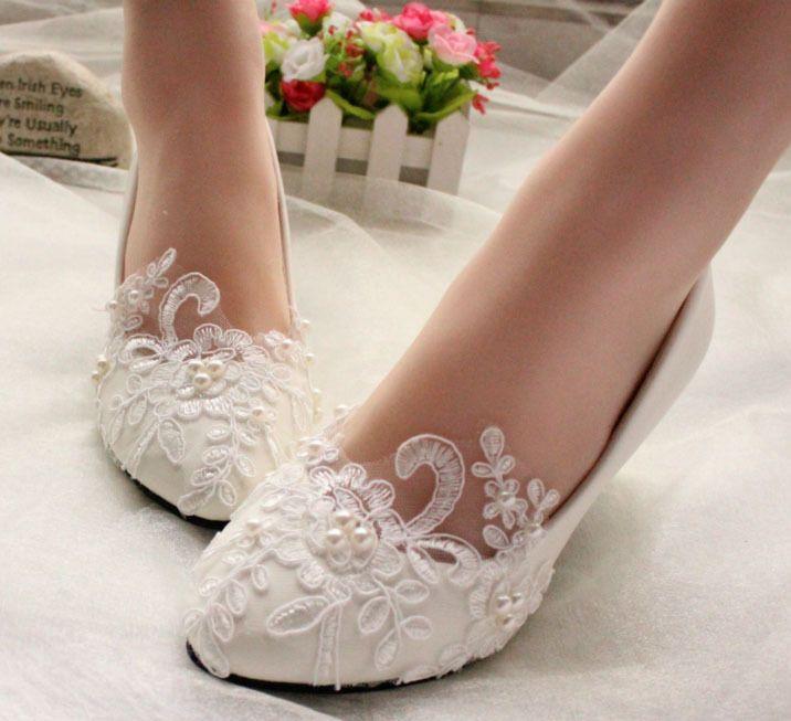 Yeni Sezon Dantel İşlemeli Gelin Ayakkabı Modelleri