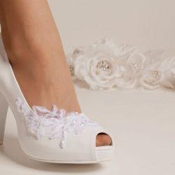 Sade Şık Gelin Ayakkabısı Modelleri 2018