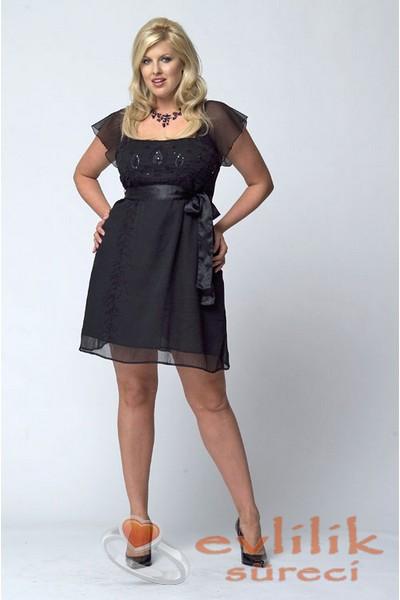 Kilolu ve kısa boylular için elbise modelleri