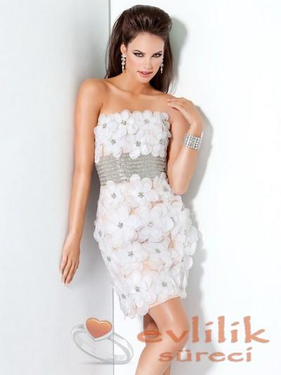 Nişan için çok asil abiye elbise modelleri