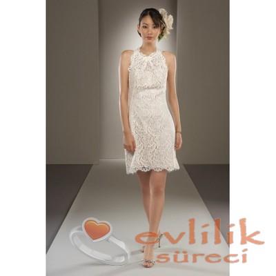 Süslemeli çok zarif nikah elbise modeli