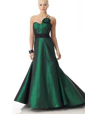 En İddialı Yeşil Renkli Abiye Modelleri