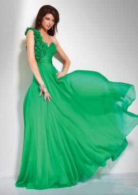 En Yeni Yeşil Renkli Abiye Modelleri