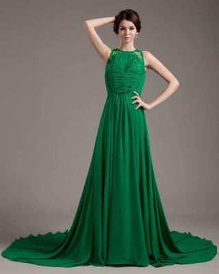 Gösterişli Yeşil Renkli Abiye Modelleri