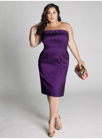 Kilolu bayanlar için en zarif söz elbise kombinleri