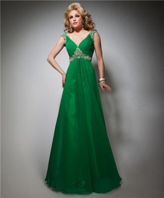 Nişanlık Yeşil Renkli Abiye Modelleri