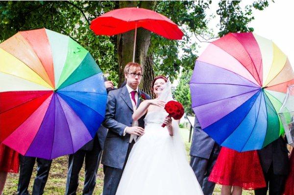 Rengarenk gelin şemsiye modelleri