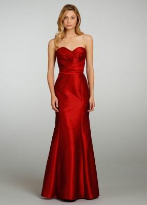 Kolsuz Nişanlık Kırmızı Abiye Modeli